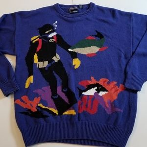 Vintage | Ugly Sweater Scuba Diver by Hathaway 90s